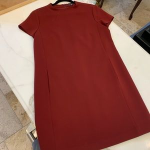 Stylish burgundy dress by Theory size 10